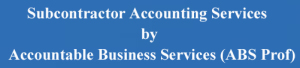 Sub Contractor Accounting services